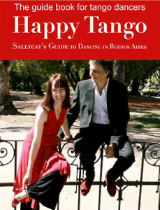 Postcard image of Happy Tango, the guide book for tango dancers