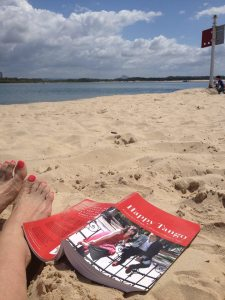Happy Tango first edition on beach